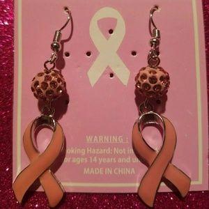 Cancer Awareness Ribbon Eaarings